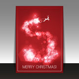 Christmas Card - Flyer or Cover Design Template Stock Photo