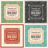 Christmas Card in Four Different Variations Stock Images