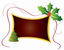 Christmas card frame gift background  illustration Royalty Free Stock Photos