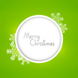 Christmas card with frame Stock Photography