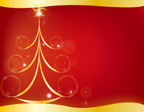 Christmas card gift background  illustration Royalty Free Stock Photos