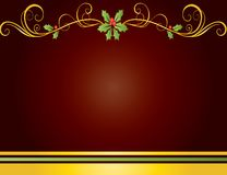 Christmas card gift background  illustration Royalty Free Stock Photography