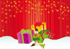 Christmas card gift background  illustration Stock Images