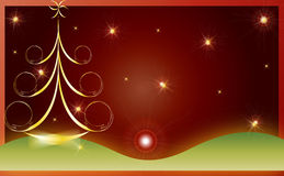 Christmas card gift background vector illustration Stock Photo