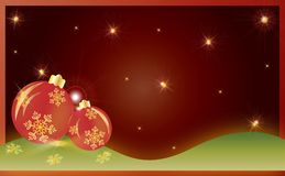 Christmas card gift background vector illustration Royalty Free Stock Images