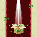 Christmas card with gift box Royalty Free Stock Images