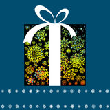 Christmas card with gift box. EPS 8 Royalty Free Stock Photos