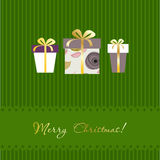 Christmas card with gift boxes Royalty Free Stock Images