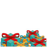 Christmas card gift boxes image Royalty Free Stock Image