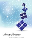 Christmas card with gifts. Stock Photos