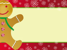 Christmas card with gingerbread royalty free stock images