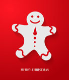 Christmas card with gingerbread. Stock Images