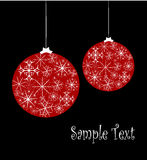 Christmas card with glass balls Royalty Free Stock Photography