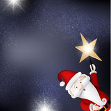 Christmas card. With glitters and santa claus Royalty Free Stock Photo