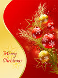 Christmas card in gold Royalty Free Stock Photography