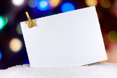 Christmas card with gold star Stock Image