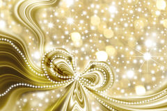 Christmas card, gold and stars Stock Image