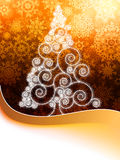 Christmas card with golden glowing.  + EPS8 Stock Photography
