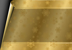 Christmas card with golden paper Stock Photography