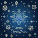 Christmas card with golden snowflakes. Stock Photography