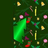 Christmas card green Royalty Free Stock Image