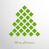 Christmas card with a green abstract tree Royalty Free Stock Images