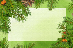 Christmas card. On green background - computer generated illustration Royalty Free Stock Images