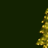 Christmas Card - Green Tree Background Royalty Free Stock Photos