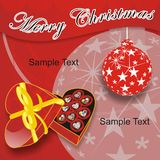 Christmas Card. A greeting card is great for granted when the particular moment Royalty Free Stock Photos