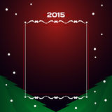 2015 - Christmas card. Greetings card for 2015.  format Stock Photos