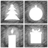 Christmas card grey Royalty Free Stock Photos