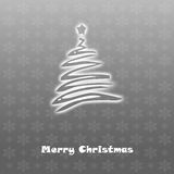 Christmas card grey background Stock Images
