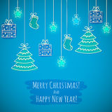 The Christmas card Royalty Free Stock Photos
