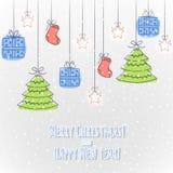 The Christmas card Stock Image