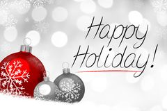 Christmas card - Happy Holiday Stock Image