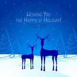 Christmas card - Happy Holiday stock illustration