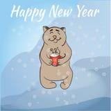 Christmas card. Happy Holidays card Stock Image