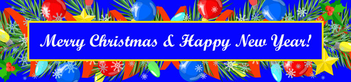 Christmas card Happy New Year , Merry Christmas Royalty Free Stock Image