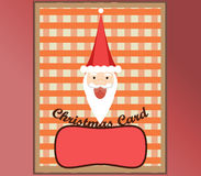 Christmas Card Happy Santa Royalty Free Stock Image