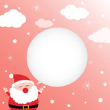 Christmas card with happy Santa Claus Stock Image
