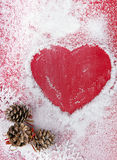 Christmas card with heart Stock Photography
