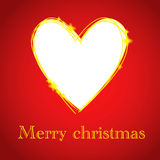 Christmas card with heart hole. Place Royalty Free Stock Photo