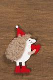 Christmas card with a hedgehog Stock Photo