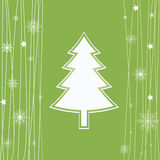 Christmas card. Holiday card in abstract style in lush green Royalty Free Stock Photos