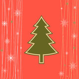 Christmas card. Holiday card in abstract style with a Christmas tree Royalty Free Stock Photo