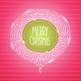 Christmas card. Holiday background with badge. Royalty Free Stock Image