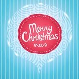 Christmas card. Holiday background with badge. Royalty Free Stock Photography