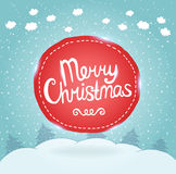 Christmas card. Holiday background with badge. Stock Image