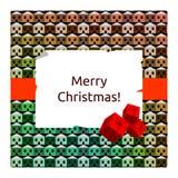 Christmas card. Christmas holiday seasonal greetings card, vector illustration stock illustration