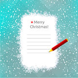 Christmas card. Christmas holiday seasonal greetings card, vector illustration. Blank space for text insertion royalty free illustration